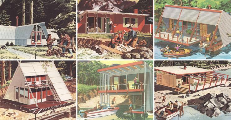 Futuristas e abertas à natureza: assim eram as casas de férias pré-fabricadas dos EUA nos anos 50