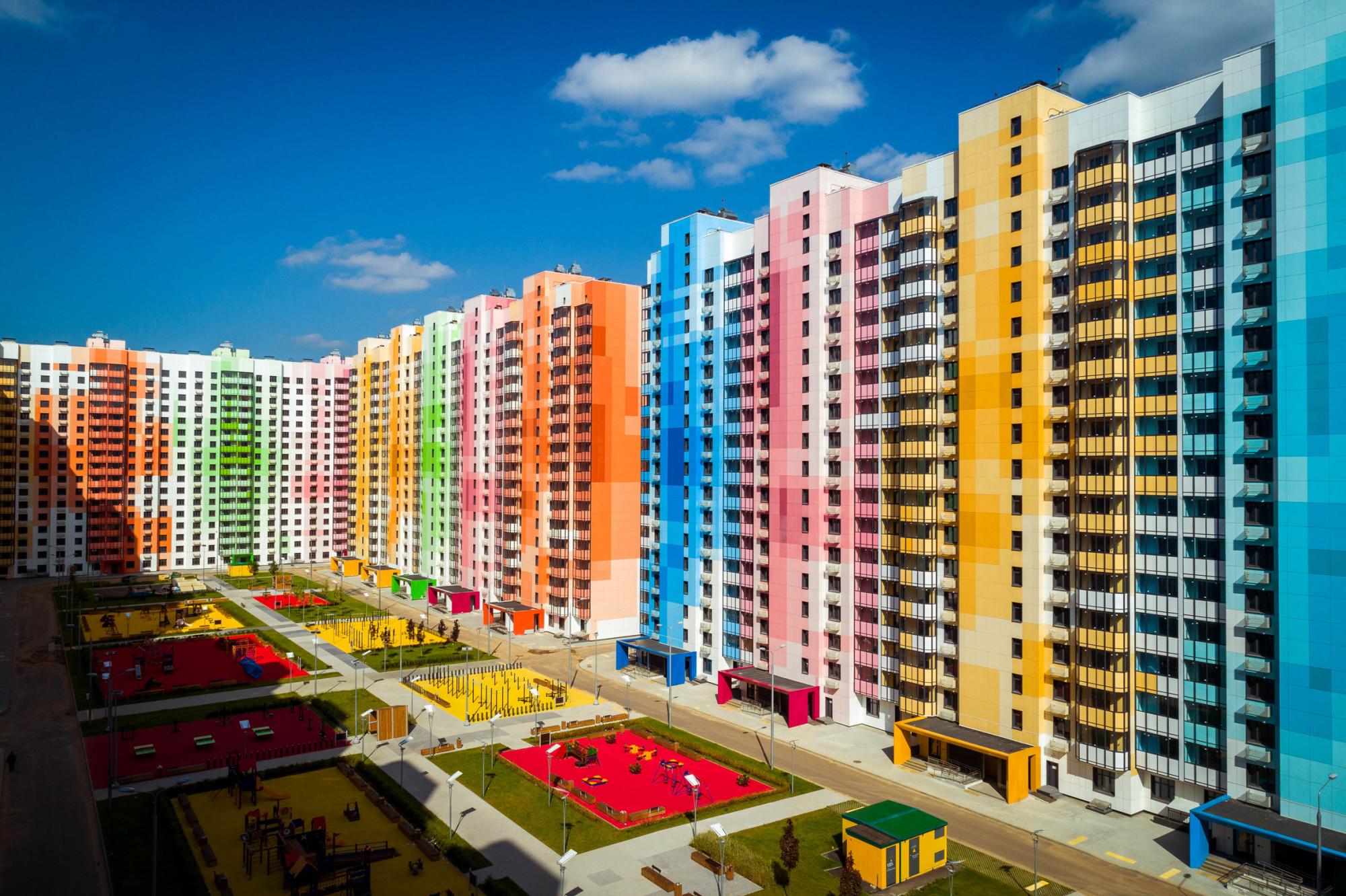 Um projeto arco-íris está a mudar os tons cinzentos dos arredores de Moscovo